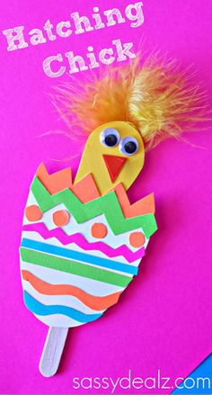 Hatching Chick Craft Easter