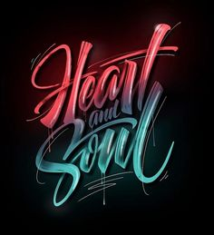 listen to your #heart and follow your #soul - a magical #artwork by @friks84 #handmadefont