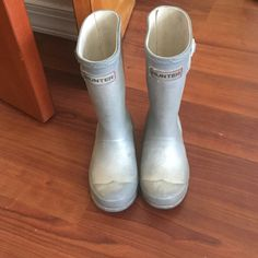 Kids hunter boots In used condition. plenty of life left. Boys size 11 girls size 12 Hunter Boots Shoes Ankle Boots & Booties
