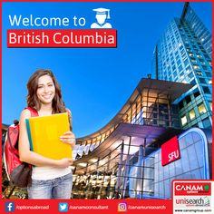 British Columbia is one of the leading #StudyAbroad Destination in Canada that represents just 13% of the country's total population, but is home to 25% of all international students in Canada. If you also want to enrol in one of the leading Universities in British Columbia, come and let #CanamConsultants team help you.