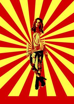 Fashion Woman Poster by Joyce Guo