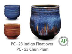 Indigo Float is an intensely blue glaze with a lighter blue surface float. This rich cobalt glaze breaks deep blue where thinner. Great for layering with other potters choice glazes! Glazes For Pottery, Ceramic Pottery, Ceramic Art, Ceramic Bowls, Glazing Techniques, Pottery Techniques, Ceramics Projects, Clay Projects, Ceramic Glaze Recipes