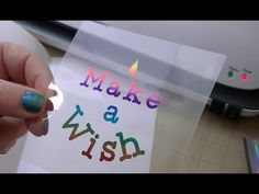 Foiling on Transparency - YouTube