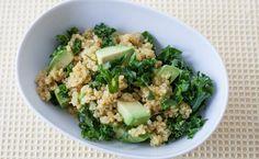 Epicure Kale Quinoa Salad with Mango Curry Vinaigrette Epicure Recipes, Healthy Recipes, Lunch Recipes, Whole Food Recipes, Salad Recipes, Healthy Options, Free Recipes, Kale Quinoa Salad, Whole Foods