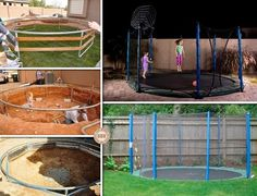 Best in Ground Trampolines | This inground trampoline is a great weekend project! Much safer to use ...