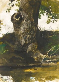 Andrew Wyeth Watercolor Artist | ... ART-SALE-ANDREW-WYETH-ALONG-TAIL-RACE-WATERCOLOR-FINE-ART-CONNOISSEUR