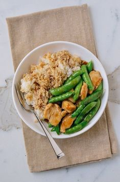 Recipe: Chicken and Snap Pea Stir-Fry — 5 Recipes to Eat with Rice from Woks of Life Chicken Stir Fry, Fried Chicken, Krispy Chicken, Chicken Rice, Asian Recipes, Healthy Recipes, Ethnic Recipes, Chinese Recipes, Quick Recipes