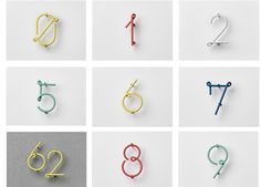 Design collective Nak Nak has a new collection of wire house numbers with a retro vibe reminiscent of old neon signs in show windows. The steel numbers by Design Typo, Retro Design, Sign Design, Graphic Design, Old Neon Signs, Air B And B, Wayfinding Signage, House Numbers, Wire Art