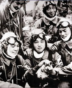 [History] Kamikaze pilots petting a puppy the day before their final mission.