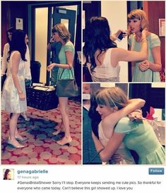 When she surprised her mega-fan Gena by showing up at her freaking bridal shower: | 21 Times Taylor Swift Changed Her Fans' Lives
