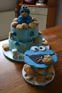 Cookie Monster Cake — Children's Birthday Cakes