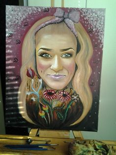 """ my 1 oil autoportrait"