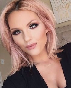 10 stunningly beautiful Rose Gold Hair styles (pin now, read later!) - 10 stunningly beautiful Rose Gold Hair styles (pin now, read later!) 10 stunningly beautiful Rose Gold Hair styles (pin now, read later! Gold Hair Colors, Hair Color Pink, Blonde Color, Pastel Pink Hair, Color Red, Light Pink Hair, Red Blonde, Gold Colour, Short Blonde