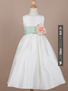 Awesome - Gorgeous Poly-Shantung Flower Girl Dress with Organza Sash - Flower Girl Dresses | CHECK OUT MORE GREAT FLOWER GIRL AND RING BEARER PHOTOS AND IDEAS AT WEDDINGPINS.NET | #weddings #wedding #flowergirl #flowergirls #rings #weddingring #ringbearer #ringbearers #weddingphotographer #bachelorparty #events #forweddings #fairytalewedding #fairytaleweddings #romance