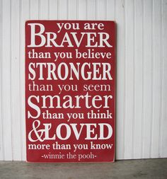 Custom Nursery Quote Sign hand painted You Are by VermillionDrive