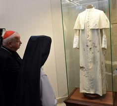 LOOK: Pope John Paul II's blood-stained cassock on display 34 years after shooting | Lifestyle | GMA News Online