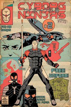 Awesome Robo!: Luke Parker's Cyborg Ninja Covers Are Amazing
