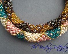Double-Cross Bracelet Tutorial Digital por beadingbutterflyshop