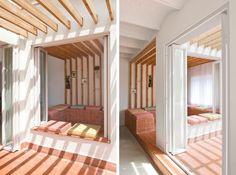 Elementos singulares en madera de pino para un apartamento low cost|Espacios en madera Singular, Balcony, Terrace, Stairs, Loft, Bed, Furniture, Home Decor, Pine