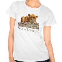 African Lioness Big Cat Wildlife Shirt