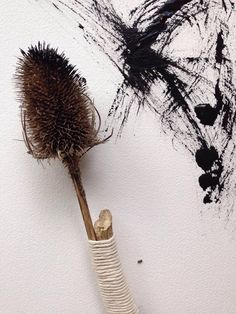 Handmade art paint brush by Elizabeth Schowachert Art Design, Art Painting, Art Tools, Handmade Art, Mark Making, Drawings, Art Brushes, Diy Art, Art Tutorials