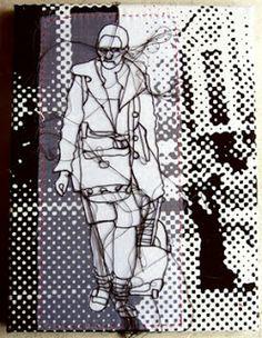 Rosie James - Negative and positive space. Textile Sculpture, Textile Fiber Art, Textile Artists, A Level Art Sketchbook, Textiles Sketchbook, Fashion Sketchbook, Negative And Positive Space, Negative Space Art, Rosie James