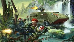Art piece made for Core Rule book of Mutant Chronicles RPG Edition Imperial Blood Berets get stuck in on Venus More Art from MC universe here: www. Fantasy Warrior, Fantasy Art, Mutant Chronicles, Warhammer Imperial Guard, Character Art, Character Design, Savage Worlds, Future Soldier, Warhammer 40k Art
