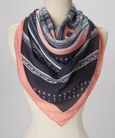 Pink & Black Stripe Alex Scarf