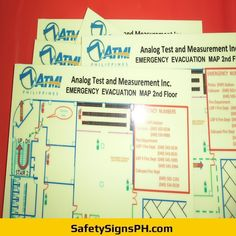 Deliver a safe and clear egress route to building occupants with our customized photoluminescent evacuation p. Evacuation Plan, Philippines, Maps, How To Plan, Map, Cards