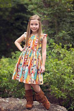Matilda Peasant Dress PDF Sewing Pattern with 3 Sleeve