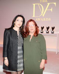 Honorees Liron Peleg-Hadomi and Noha Khatieb, #DVFAwards 2014 BFA NYC