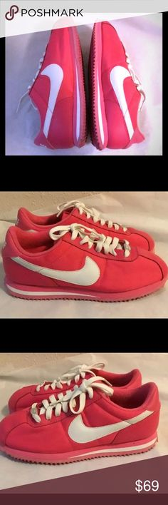 outlet store f2460 3cb26 Hot Pink Nike Cortez Leather toe sz 7.5 Nike Cortez 72  leather toe ! Hot