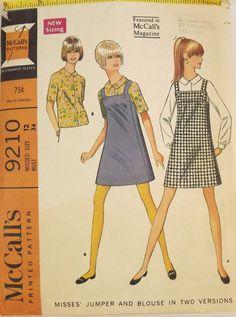 Vintage 60's Sewing Pattern Misses' Jumper by SuzisCornerBoutique, $10.00