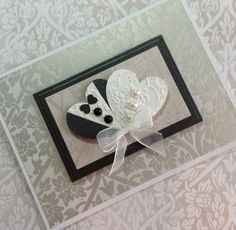 Wedding Card Bride and Groom Card by PuppyLoveCreations on Etsy, $4.50