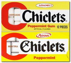 Ya sea en cajita de 12 unidades, o en las de 2, lo irresistible de Chiclet's Adams era sacudirlos y oir las coberturas acarameladas golpeteando.Masticarlos sin ese paso previo era una picardía.