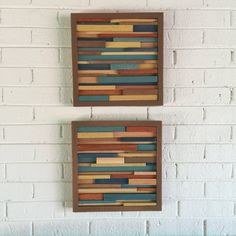 Pared arte Arte madera reciclada arte de pared por DanburyDesign