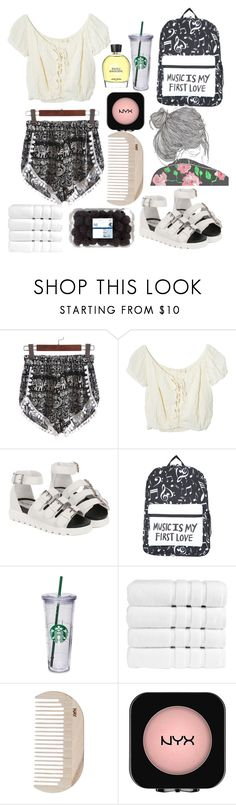 """""""Untitled #194"""" by sitiperenggi on Polyvore featuring Jens Pirate Booty, Christy, HAY, NYX and Jean Patou"""