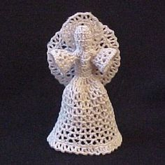 Heavenly Angel free crochet pattern - Free Crochet Tree Topper Patterns - The Lavender Chair