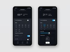 Air App Concept clean modern home air condition screen ui ux concept app mobile Ios App Design, Web Design, Iphone App Design, Mobile Ui Design, User Interface Design, Application Ui Design, Mobile Application, Conception D'applications, Mobile App Ui
