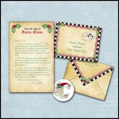 Custom Letter From Santa Giveaway  Hand Written Santa And Giveaway