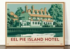 Situated in the River Thames at Twickenham, Eel Pie Island was the site of the legendary nineteenth century Eel Pie Island Hotel which was a major jazz and blues venue in the 1950s and a rock venue in the 1960's when it played host to some of the most influential British musicians of that period ...