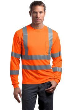 CornerStone CS409 Hi Vis ANSI Class 3 Long Sleeve Safety T-Shirt
