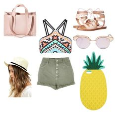"""""""playa"""" by yarlin-perez on Polyvore featuring River Island, Seafolly, Steve Madden, Corto Moltedo, Le Specs, Lulu*s and Miss Selfridge"""