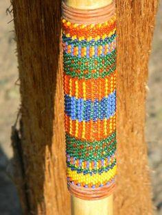 Peyote Bead Pattern Walking Stick.