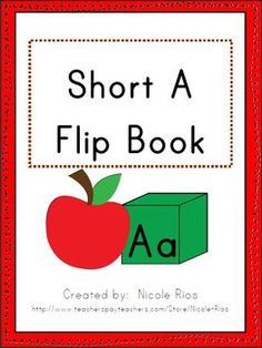 FREEBIE! This activity flip book will keep your students engaged while learning about short A. Easy to assemble. Includes sound sort, song, word hunt, making words activity, and word family work. Great for beginning of the year review.