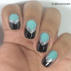 I haven't had fun with nail vinyls in a while! Video for this will be posted a little later!
