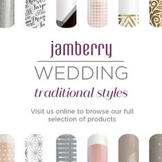 Don't spend an arm and a leg for your wedding day manicure. Use that money for nail wraps that match your traditional style, and maybe even get some for your bridesmaids!  #wedding #Jamberry #traditionalwedding