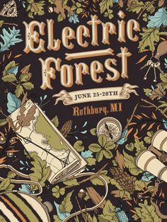 Anthony Benedetto -Creative Director at Humble Beast Records/Award-winning freelance illustrator and designer Festival Logo, Festival Posters, Food Festival, Creative Studio, Creative Director, Forest Illustration, Electric Forest, Project 4, Sound Design