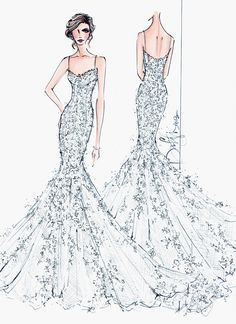 bridal 2013 fashion illustrations | ... fashion illustration to brides everywhere by launching Illustrative