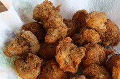 deep fried mushrooms--can also so flour, sparkling water, and 1 egg in the batter....